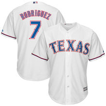 MLB Men's Texas Rangers Ivan Rodriguez 7 Baseball Home White Official Cool Base Replica Player Jersey(China)