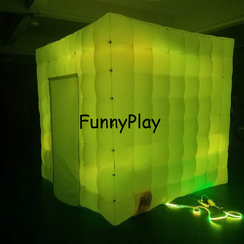 LED lighted inflatable photo booth9