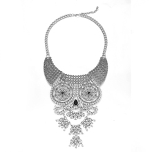 New Design Vintage 2017 ZA Statement Necklaces Big Bling Crystal Flowers Pendants Women Maxi Chokers Necklaces Costume Jewelry(China)