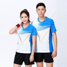 Adsmoney Short Sleeve tennis shirts Suits Fitness Men Sportswear party tennis Jersey Women Tee Tennis Set Shirts with shorts(China)