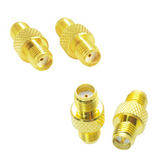 2pcs SMA Female/Male to Female Barrel Adapter RF Coax Connector Straight   CLH