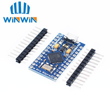New Pro Micro for arduino ATmega32U4 5V/16MHz Module with 2 row pin header For Leonardo in stock . best quality
