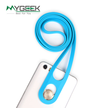 Hongkong mobile phone lanyard neck hanging rope sling chain silicone mobile phone anti-theft mobile phone chain