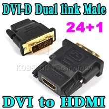New 24 + 1 DVI Male To DHMI Female Converter Adapter Adaptor Dual Link Connector for HDTV PC LCD Wholesale