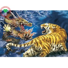 diamond embroidery animals dragon & Tiger picture of diamonds DIY diamond painting Diamond pattern embroidery mosaic for home