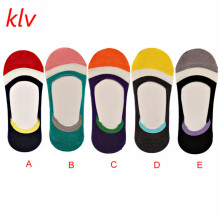 KLV New Bulk Price Summer Women's Boat Socks Girl's Silicone Non-slip Anti-friction Anti-off Invisible Thin Socks Fast Shipping(China)