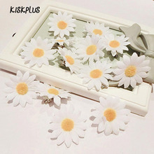 KISKPLUS Flower Cloth Hair Clips Sweet Korean Version Of The Beach Vacation Simulation Small White Daisy Hairpin #1795113