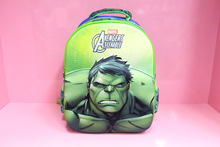 Baby Boys Hulk School Bag/Kids 3D Pattern Backpacks/Student Marvel Design Book Bags/Kindergarten Cartoon Shoulder Bags