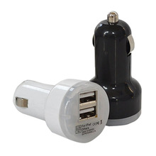 Universal 2.1A/1A Dual USB car charger 2 port Cigarette Lighter Adapter Charger USB Power Adapter For all smart phones
