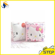 35*35CM Super Kawaii Hello Kitty Pillows Soft Cushion Stuffed Plush Toys Home Decoration Good Quality Special Offer ST028(China)