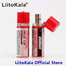 2Pcs LiitoKala Mini AA Battery Nimh AA 1.2V 1450MAH Rechargeable Battery NIMH USB AA 1450 With Colorful Card CE FCC ROHS(China)