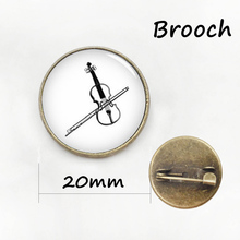 Vintage musical instrument brooches gibson guitar accordion phonograph violin Tromba drum silhouette musician pins badge