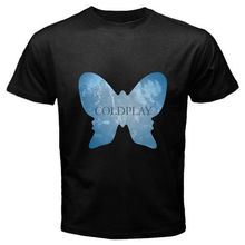 New COLDPLAY Alternative Rock Band Butterfly Logo Men's Black T-Shirt Size S-2XL