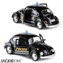 New 1/32 Scale 1967 Germany Volkswagen VW Classic Beetle Diecast Metal Pull Back Car Model Toy For Children Gifts(China)