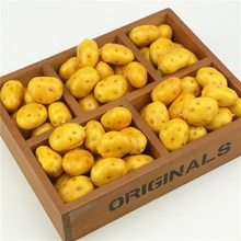 10pcs Cheap Mini potato Foam Artificial Fake Fruit Vegetable For Home Wedding Decoration Cognitive Toy Dining Table Decoration