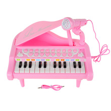 BAOLI Piano Keyboard Toy 24 Keys Pink Electronic Musical Multifunctional Instruments with Microphone(China)