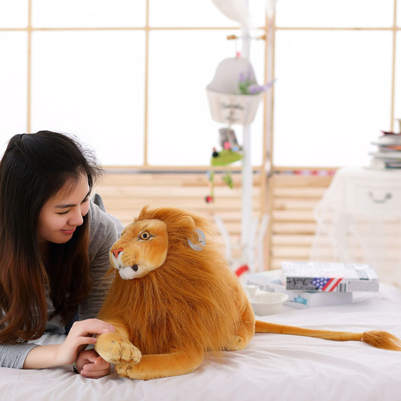 75 cm drop new style lovely Lion plush toys animals stuffed cloth doll artificial lion baby doll large doll(China)