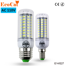 ECO Cat LED lamp E27 E14 SMD 5730 Corn Bulb 220V 110v 3w 5w 6w 7w 9w Chandelier LEDs Candle light Spotlight(China)
