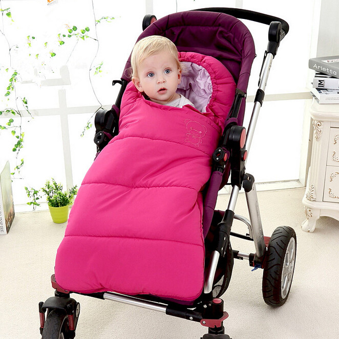 Baby sleeping Bag winter Envelope for newborns sleep thermal sack Cotton kids sleepsack in the carriage wheelchairs <br><br>Aliexpress