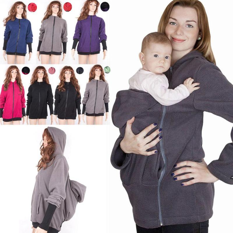 Women Hoodies 2017 Winter Maternity Baby Carrier Jacket Sweatshirts for Pregnant Women Thickened Pregnancy Baby Wearing Coat 3<br><br>Aliexpress