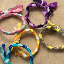 100 pcs/lot 20 color packaging Braids plaits Hairband Rope Ponytail Holder Emi Jay Like Hair Ties Elastic Hair bands