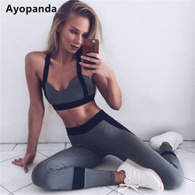 Ayopanda Hot Sale 2Pcs/Set Women Yoga Sets Fitness Seamless Sports Bra Yoga Pants Legging Gym Workout Jogging Dance Sports Wear(China)