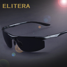 ELITERA Aluminum HD Polarized Sunglasses Men Classic Brand Designer driving Eyewear sunglass E8179