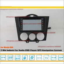 For Mazda RX8 RX 8 2003~2008 - Radio CD DVD Player & GPS Nav Navi Map Navigation System / Double Din Car Audio Installation Set(China)