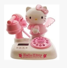 Hello kitty cartoon antique telephone vintage fashion caller id telephone