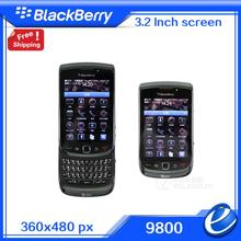 free shipping Refurbished original BlackBerry torch 9800 unlocked 3G smartphone,QWERTY and touch 3.2inch,WiFi,GPS,5.0MP