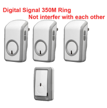 digital signal bell with 3 receivers wireless doorbell Waterproof 380 Meter door chime 48 melodies door ring waterproof