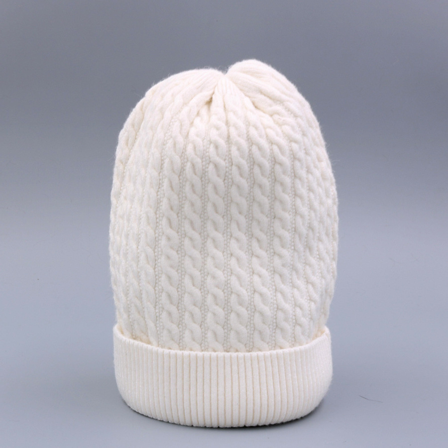 Women's Winter Hat Knitted Wool beanies Skullies Female Causal Mask Ski Thicker Warm Pompon Hats For Women  (7)