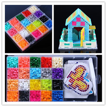 hot sale 20 Color Perler Beads 2000pcs box set 5mm Hama Beads EVA Fuse beads for Children Education jigsaw puzzle Toys(China)