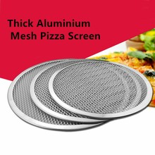 10'' to 14'' Aluminum Pizza Stones Non-Stick Mesh Pizza Screen Baking Tray Net Pizza Pan Dish for Home Pizza Shop