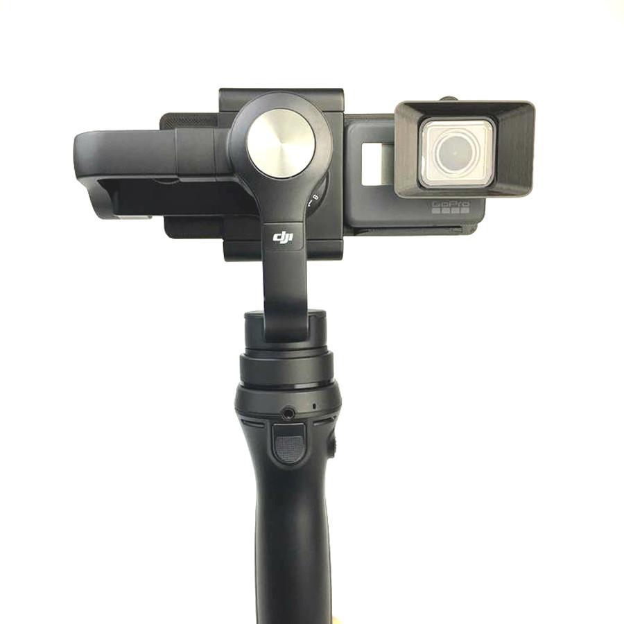 DJI OSMO Mobile Handheld Gimbal Turn Switch Mount Plate Camera Lens Sun Shade Hood for Gopro hero 5 DJI OSMO Z1-Smooth Zhiyun 6