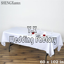 "60""*102"" Rectangular Table Cloth \ Cheap Wedding Tablecloth Free Shipping"