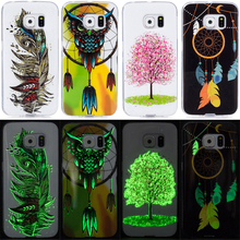 Noctilucent Phone Case For Samsung Galaxy S5 S6 S7 S8 S6 S7 Edge S8 Plus Cover Silicone TPU 3D Cute Animal Plant Casing Fundas