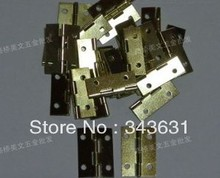 100pcs High Quality Steel With Brass Plated 28*19*0.8mm 4 Hole Door Hinges(China)