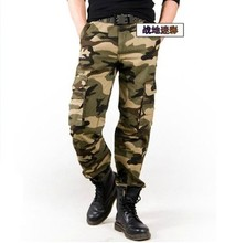 Hot Sale Men's fashion multi-pocket camouflage pants cotton Cargo Pants Men's clothing  Army Military Trouser high quality