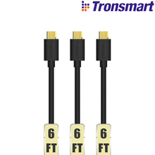 [3 Pack] Tronsmart MUPP2 6ft*3 USB 2.0 Gold Plated Male to Micro USB Cable 1.8m*3 with Gold connector compatible for xiaomi etc