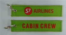 S7 Airlines Logo Cabin Crew Custom Embroidered Fabric Keychain