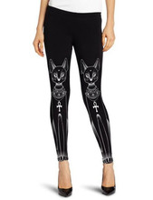 Europe and selling two models black and white fox leggings stretch pants fashion a generation of fat