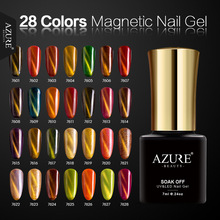 AZURE BEAUTY Magnetic Shining Color Nail Gel Soak Off UV Gel Polish Need Magnet Stick Gel Lacquer Cat Eyes Effect Soak-off Gel(China)