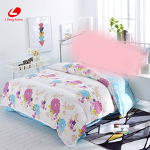 Purple flower summer style duvet cover 1pc flower quilts cover Queen size bedding bag home texteile 180*210cm blue quilts cover