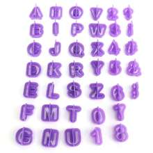 Hot  Brand New 40pcs/set Alphabet Number Letter Fondant Cake Cookie Mould Fondant Cookie Cutters Useful Baking Tool