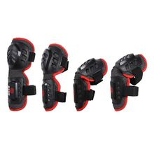 Skateboarding Protector set Elbow Knee Arm Waterproof Motorcycle Bicycle Racing Knee Pads Protective Guards Armor 4pcs(China)