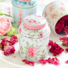 1pcs New Europe type style Tea caddy receive box candy storage box wedding favor tin box cable organizer container household
