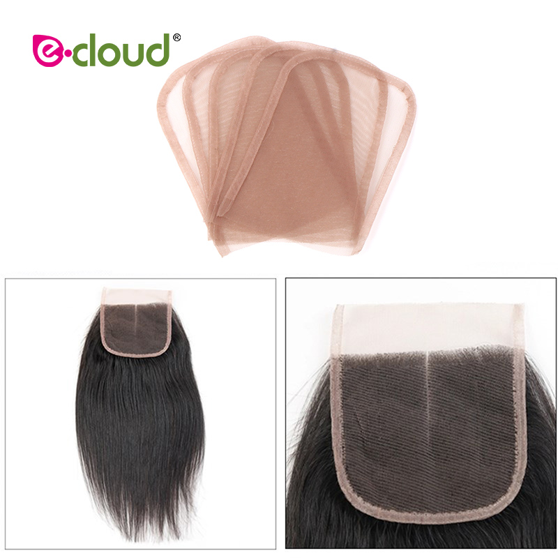 1PCS-13X4inch-Swiss-Lace-Closure-Frontal-Base-Brown-Hand-woven-Hair-Piece-Net-For-Making-Lace