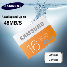 100% Original SAMSUNG Memory Card sd card 64GB 16GB C10 UHS-I SD 48M EVO SD Card 32GB Class 10 SDHC SDXC memory cards for Camera(China)