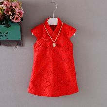 2017 Drop Ship Brand Girls Summer Cotton Dress Classical Sleeveless Baby Girl Dresses Plaid Princess Dress Children's Clothing(China)